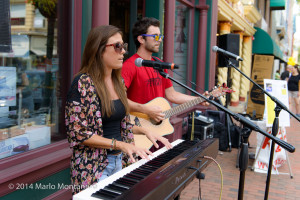 Kellie Shane and Breece Panepinto from Pepperwine bring their unique style of music to Red Bank